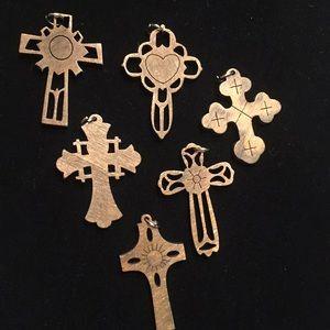 Wood carved crosses